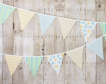 Spring Flag - Wall Decor, Fall Fabric Flag Bunting