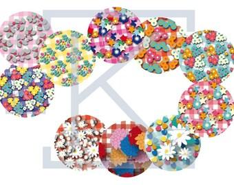Images digital floral gingham