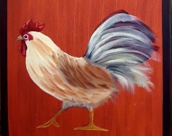Original Rooster Painting