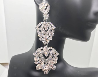 Crystal Prom Earrings