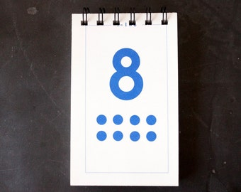 Vintage Flash Card Notebook, Number 8 (50 various pages) - Perfect for To-Do Lists, Shopping Lists, and Big Ideas