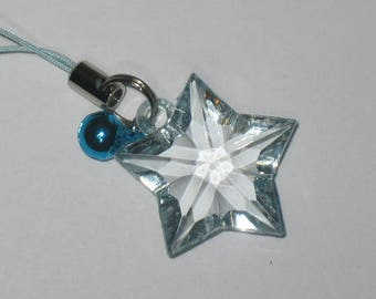 Strikingly Beautiful Blue Star to Guide Your Way - Keychain/Zipper Pull/Cell Charm