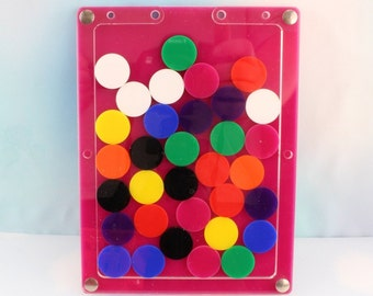 Large Perspex Acrylic Reward Chart / drop box with Disc Tokens