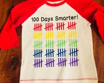 100 Days of School Shirt / Cute Kid Shirt / Tally Shirt / School shirt/ Kid Shirt/ Trendy Shirt