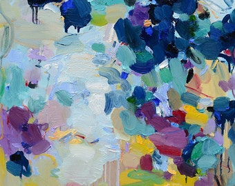 Fine Art Prints, Abstract Painting, Abstract art print, Blue print, Blue Painting, Giclee Print , Wall Art , Wall Décor, 10x10 12x12 16x16