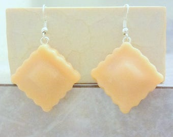 Ravioli Earrings Custom Made-ONE Pair of Earrings *Please Read Description*