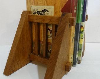 Vintage Levenger Mission Oak Bookends Craftsman Footsteps Arts and Crafts Wood Bood Ends