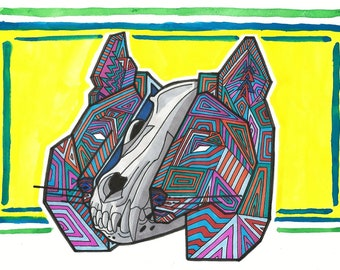 Endangered Mexican Grey Wolf - Print