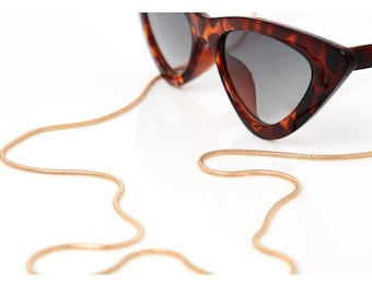 Sunglass Chain, Cord, Holder   Jewelry   Eyewear Glasses Accessories   Gold Plated   Handmade by SUNNY CORDS