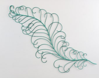 Line Art Feather : Feather decor etsy