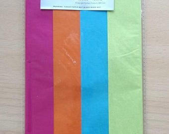 Paper - 4 sheets - color pink yellow blue ORANGE REF. 652