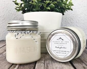 Soy Wax Candle - Soy Candles - Wax Candles - Soy Wax - Soy Wax Candles Handmade - Rain Candle - Rustic Home Decor - Washington State