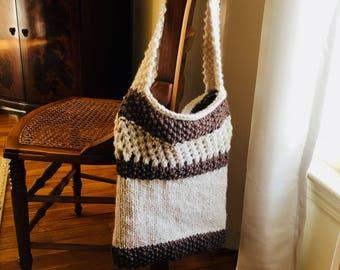 Farmers Market Bag, knit bag, handbag, market bag