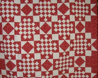 Classic Red and White Quilt
