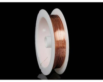 Coper wire and 0.3 mm Rose Gold color coil 23 meters