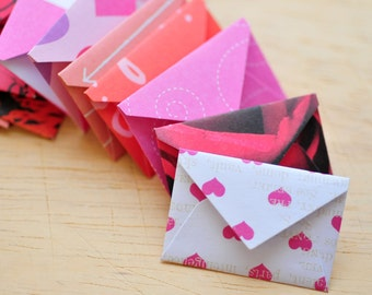 Tiny Valentine's Day Love Notes // Set of 10 // Love Notes // Blank Cards // Embellishment // Scrapbooking