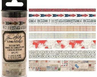 Tim Holtz- Design Tape Postal- 8 Different Tapes