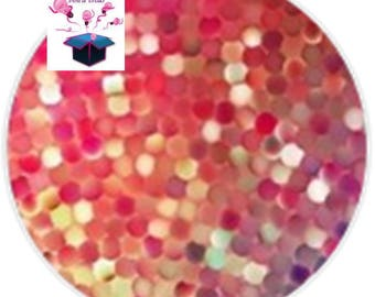 1 glass cabochon 16 mm for loop or ring geometry theme