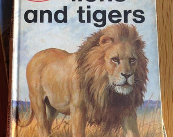 Vintage Ladybird book Lions and Tigers