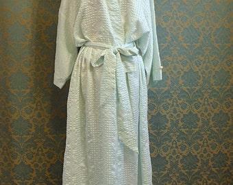 Christian Dior Robe, FREE SHIPPING, 1970s Large Satin Robe, Full Length Robe, Vintage Dior Robe