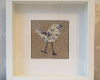 Machine embroidered picture - Bird