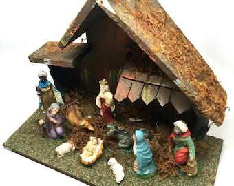 Nativity Scene, Italy, Vintage, Crèche,Holy Family, Religious, Christmas, Set