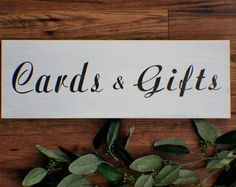 Cards And Gifts Wedding Gift Table Sign, Rustic Wood Sign, wood sign, wedding cards and gifts sign