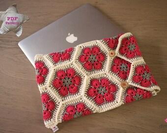 Haakpatroon laptop hoes 'Macbook'