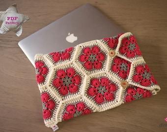 Crochet pattern Laptop / Macbook cover