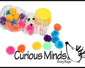 MINI Honey Bear Pom Stuff - Fine Motor Busy Bag