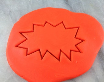 Comic Book BOOM Cookie Cutter Outline #2 - CHOOSE Your own SIZE - Fast Shipping!