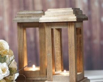 Reclaimed Wood Lanterns, Rustic Thanksgiving Decor, Rustic lantern, Wooden lantern, Thanksgiving Table, Rustic Home Decor, Wood Lantern