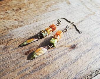 Bohemian Vintage Patina Earrings.