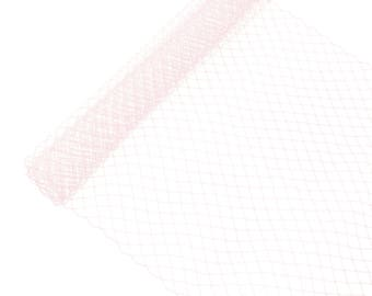 "1 Yard x 10"" Light Pink Russian Millinery Birdcage Veil Netting - Available in 19 Colors"