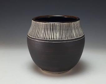 Sgraffito Vase Webb Pottery