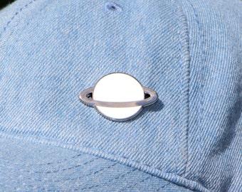 Planet Enamel Pin / Saturn Hard Enamel Lapel Pin