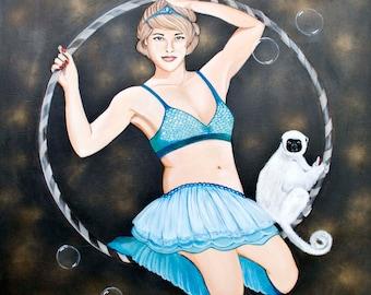 The Acrobat/Acrylic on canvas