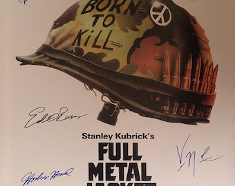 Full metal jacket signed movie poster