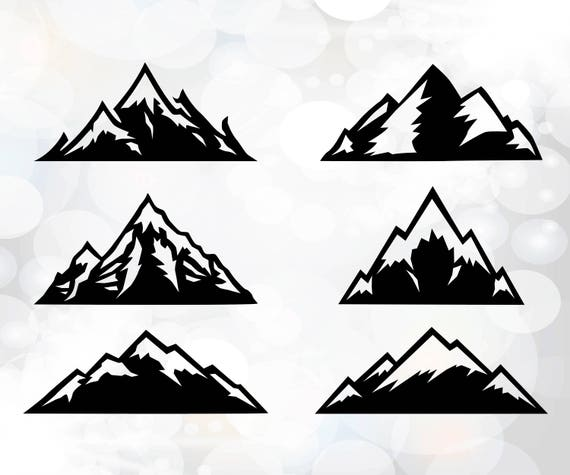 Mountain Svg Mountain Clipart Silhouette Cut Files