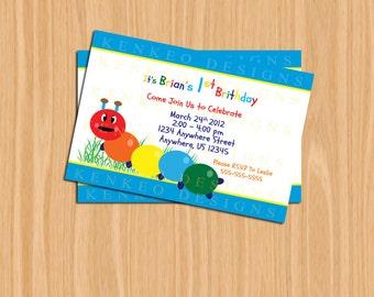 DIY Printable 4x6 Invitation-Baby Einstein Inspired