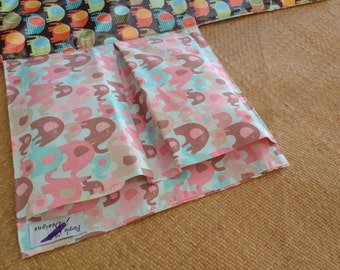 For sale:Nappy Wallet  with waterproof Change Mat - three or two pockets - Elephant Splash packed - pink