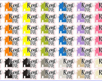 Rent Due Stickers