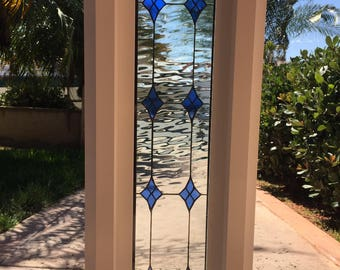 """Wow! Vinyl Framed and Tempered Glass Insulated!!  The """"Lancaster"""" Stained Glass & Beveled Window"""