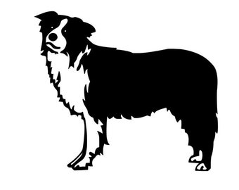 Border Collie Dog Lover Vinyl Car Decal Bumper Window Sticker Any Color Multiple Sizes Jenuine Crafts