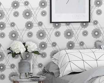 Clogs / Geometric wallpaper / Art deco wallpaper /