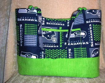 "Seattle Seahawks tote bag- ""Sadie"""