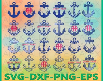 70% OFF, Anchor SVG Files, Anchors Monogram Svg Files, Anchors Split-monogram Svg Files, Anchors Svg, Dxf, Png, Ai File, Instant Download