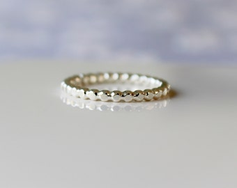 Sterling Silver Ring, Silver Stacking Bead Ring, Minimalist Jewelry, Stacking Ring, Connected Dot ring, Etsy Gifts , Boho Ring, Dainty Ring
