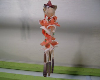 Sea Shell Chimes with Fish on Top