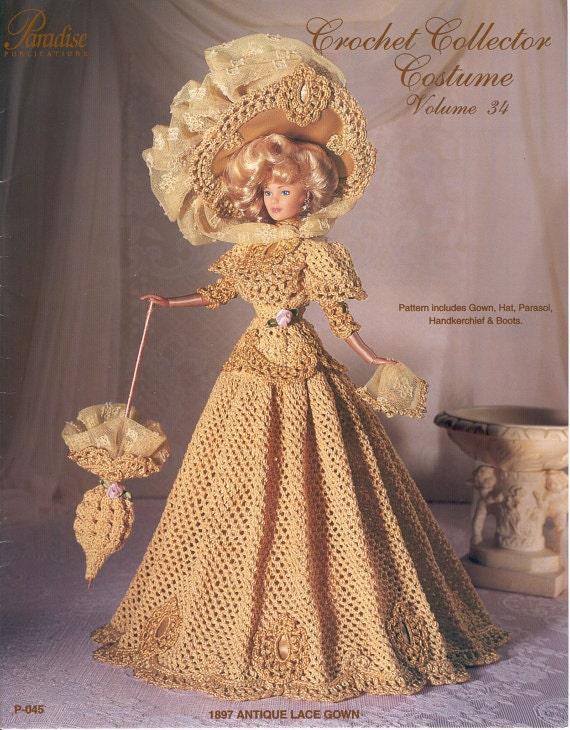 PDF Crochet Barbie Dress, Barbie Gown, Crochet eBook, Pattern ...